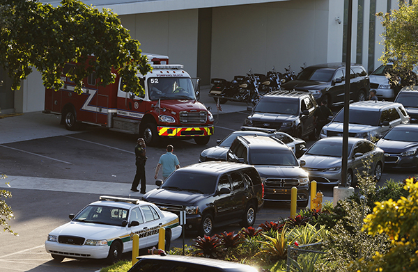 "<div class=""meta image-caption""><div class=""origin-logo origin-image ap""><span>AP</span></div><span class=""caption-text"">Police and rescue vehicles are shown outside Broward Health North hospital, Wednesday, Feb. 14, 2018, in Deerfield Beach, Fla. (AP Photo/Joe Skipper)</span></div>"