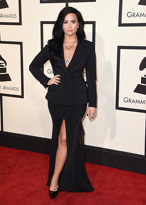 <div class='meta'><div class='origin-logo' data-origin='AP'></div><span class='caption-text' data-credit='Jordan Strauss/Invision/AP'>Demi Lovato arrives at the 58th annual Grammy Awards at the Staples Center on Monday, Feb. 15, 2016, in Los Angeles.</span></div>