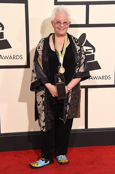 <div class='meta'><div class='origin-logo' data-origin='AP'></div><span class='caption-text' data-credit='Jordan Strauss/Invision/AP'>Janis Ian arrives at the 58th annual GRAMMY Awards at the Staples Center on Monday, Feb. 15, 2016, in Los Angeles.</span></div>