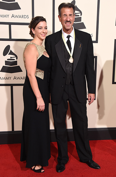 <div class='meta'><div class='origin-logo' data-origin='AP'></div><span class='caption-text' data-credit='Jordan Strauss/Invision/AP'>John Fedchock, right, and guest arrive at the 58th annual GRAMMY Awards at the Staples Center on Monday, Feb. 15, 2016, in Los Angeles.</span></div>