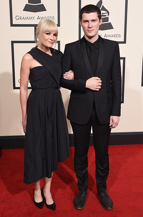 <div class='meta'><div class='origin-logo' data-origin='AP'></div><span class='caption-text' data-credit='Jordan Strauss/Invision/AP'>Liz Anjos, left, and Andre Anjos arrive at the 58th annual GRAMMY Awards at the Staples Center on Monday, Feb. 15, 2016, in Los Angeles.</span></div>