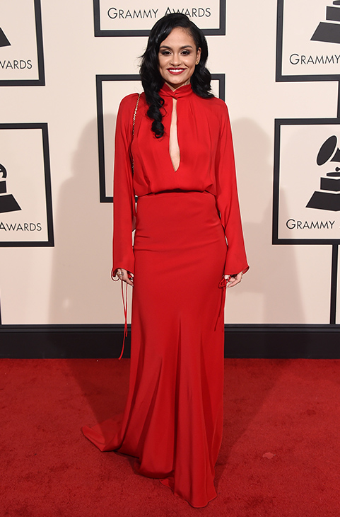 <div class='meta'><div class='origin-logo' data-origin='AP'></div><span class='caption-text' data-credit='Jordan Strauss/Invision/AP'>Kehlani arrives at the 58th annual Grammy Awards at the Staples Center on Monday, Feb. 15, 2016, in Los Angeles.</span></div>