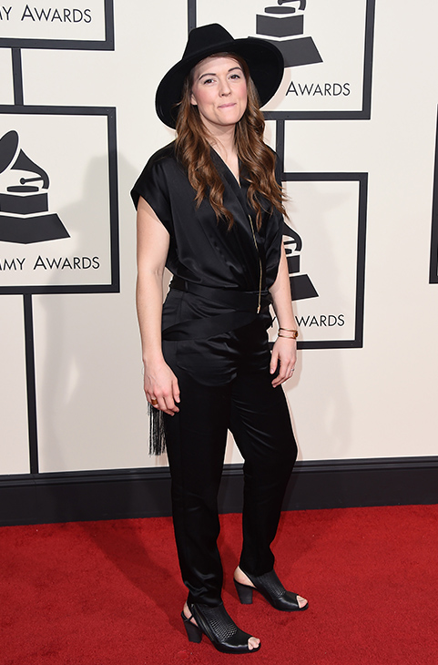 <div class='meta'><div class='origin-logo' data-origin='AP'></div><span class='caption-text' data-credit='Jordan Strauss/Invision/AP'>Brandi Carlile arrives at the 58th annual Grammy Awards at the Staples Center on Monday, Feb. 15, 2016, in Los Angeles.</span></div>