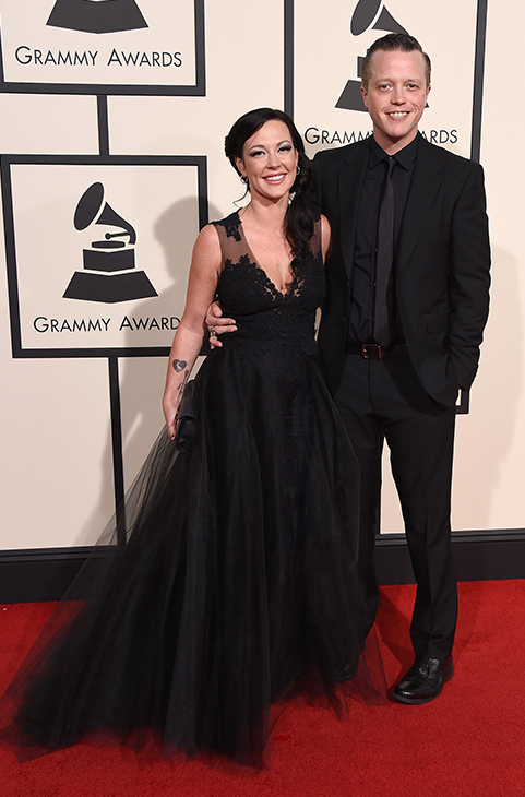 <div class='meta'><div class='origin-logo' data-origin='AP'></div><span class='caption-text' data-credit='Jordan Strauss/Invision/AP'>Jason Isbell, right, and Amanda Shires arrive at the 58th annual Grammy Awards at the Staples Center on Monday, Feb. 15, 2016, in Los Angeles.</span></div>