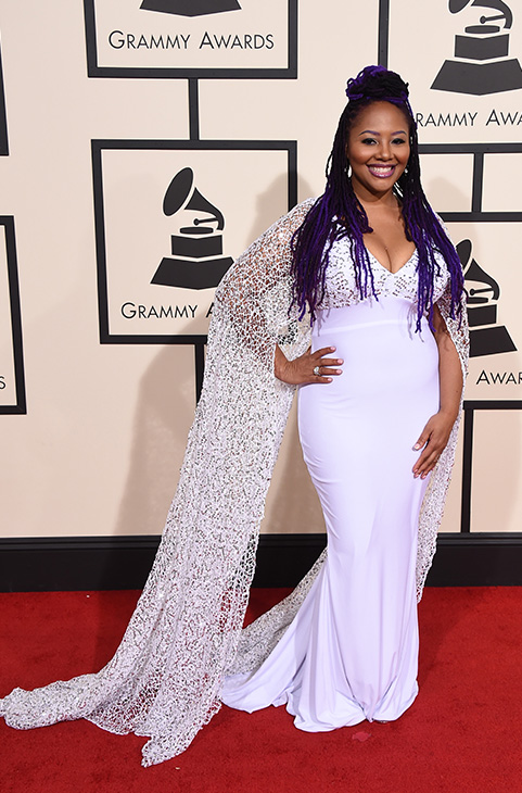 <div class='meta'><div class='origin-logo' data-origin='AP'></div><span class='caption-text' data-credit='Jordan Strauss/Invision/AP'>Lalah Hathaway arrives at the 58th annual Grammy Awards at the Staples Center on Monday, Feb. 15, 2016, in Los Angeles.</span></div>