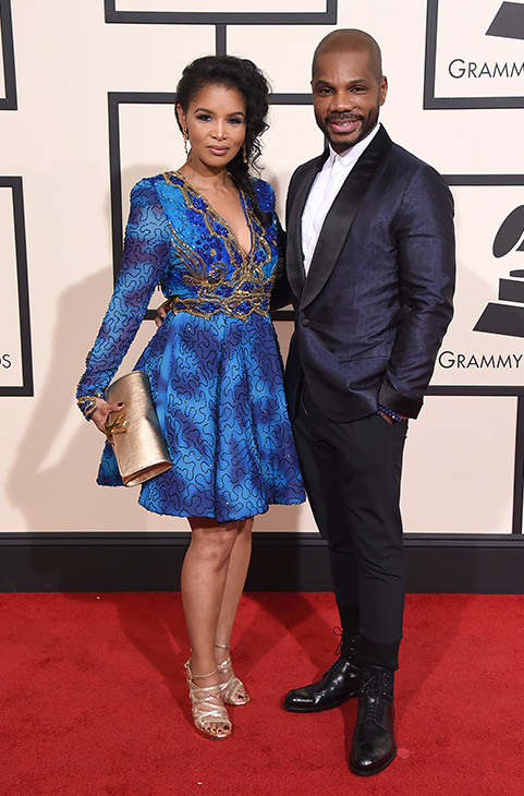 <div class='meta'><div class='origin-logo' data-origin='AP'></div><span class='caption-text' data-credit='Jordan Strauss/Invision/AP'>Kirk Franklin, right, and Tammy Collins arrive at the 58th annual Grammy Awards at the Staples Center on Monday, Feb. 15, 2016, in Los Angeles.</span></div>