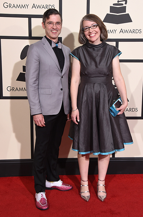 <div class='meta'><div class='origin-logo' data-origin='AP'></div><span class='caption-text' data-credit='Jordan Strauss/Invision/AP'>Billy Kelly, left, and Molly Ledford arrive at the 58th annual Grammy Awards at the Staples Center on Monday, Feb. 15, 2016, in Los Angeles.</span></div>