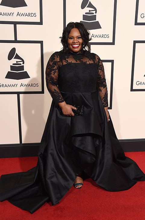 <div class='meta'><div class='origin-logo' data-origin='AP'></div><span class='caption-text' data-credit='Jordan Strauss/Invision/AP'>Tasha Cobbs arrives at the 58th annual Grammy Awards at the Staples Center on Monday, Feb. 15, 2016, in Los Angeles.</span></div>