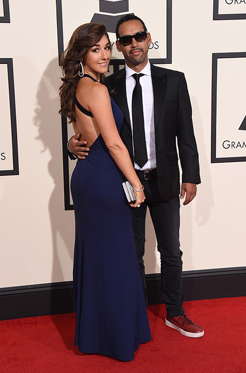<div class='meta'><div class='origin-logo' data-origin='AP'></div><span class='caption-text' data-credit='Jordan Strauss/Invision/AP'>Thana Alexa, left, and Antonio Sanchez arrive at the 58th annual Grammy Awards at the Staples Center on Monday, Feb. 15, 2016, in Los Angeles.</span></div>