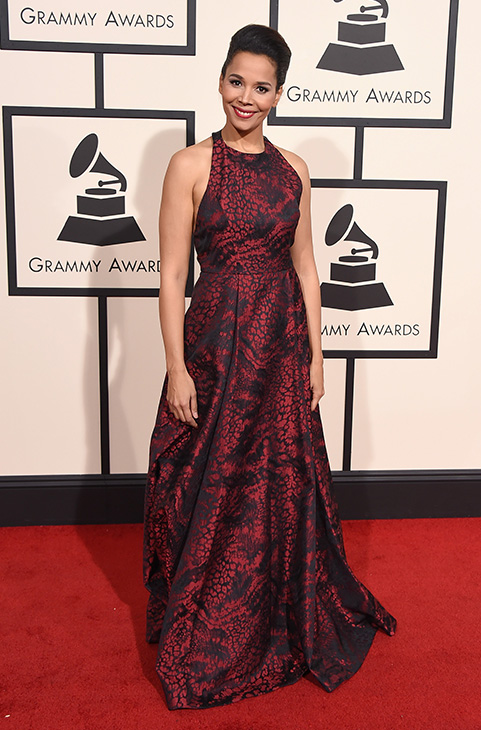 <div class='meta'><div class='origin-logo' data-origin='AP'></div><span class='caption-text' data-credit='Jordan Strauss/Invision/AP'>Rhiannon arrives at the 58th annual Grammy Awards at the Staples Center on Monday, Feb. 15, 2016, in Los Angeles.</span></div>