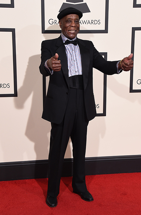 <div class='meta'><div class='origin-logo' data-origin='AP'></div><span class='caption-text' data-credit='Jordan Strauss/Invision/AP'>Buddy Guy arrives at the 58th annual Grammy Awards at the Staples Center on Monday, Feb. 15, 2016, in Los Angeles.</span></div>