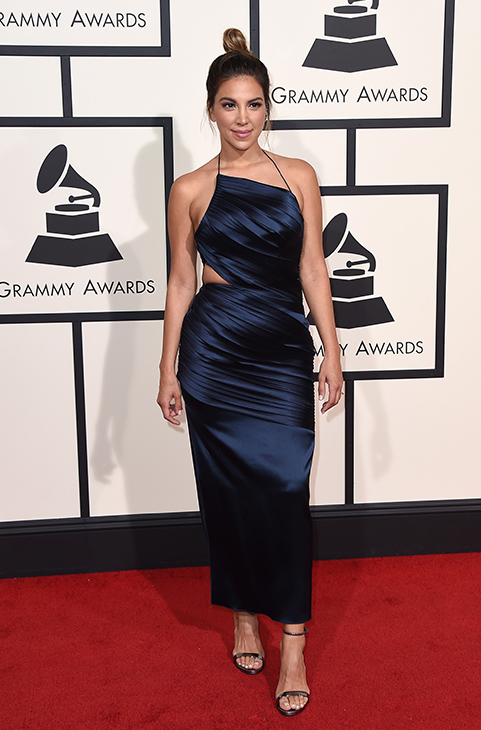 <div class='meta'><div class='origin-logo' data-origin='AP'></div><span class='caption-text' data-credit='Jordan Strauss/Invision/AP'>Liz Hernandez arrives at the 58th annual Grammy Awards at the Staples Center on Monday, Feb. 15, 2016, in Los Angeles.</span></div>