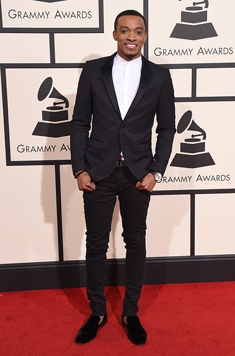 <div class='meta'><div class='origin-logo' data-origin='AP'></div><span class='caption-text' data-credit='Jordan Strauss/Invision/AP'>Jonathan McReynolds arrives at the 58th annual Grammy Awards at the Staples Center on Monday, Feb. 15, 2016, in Los Angeles.</span></div>