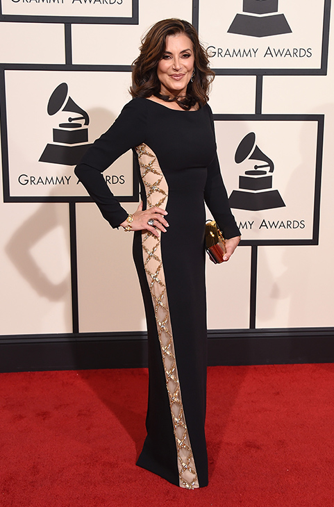 <div class='meta'><div class='origin-logo' data-origin='AP'></div><span class='caption-text' data-credit='Jordan Strauss/Invision/AP'>Denise Donatelli arrives at the 58th annual Grammy Awards at the Staples Center on Monday, Feb. 15, 2016, in Los Angeles.</span></div>