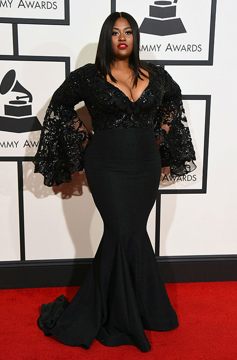 <div class='meta'><div class='origin-logo' data-origin='none'></div><span class='caption-text' data-credit='Jordan Strauss/Invision/AP'>Jazmine Sullivan arrives at the 58th annual Grammy Awards at the Staples Center on Monday, Feb. 15, 2016, in Los Angeles.</span></div>