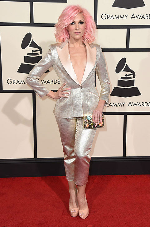 <div class='meta'><div class='origin-logo' data-origin='none'></div><span class='caption-text' data-credit='Jordan Strauss/Invision/AP'>Bonnie McKee arrives at the 58th annual Grammy Awards at the Staples Center on Monday, Feb. 15, 2016, in Los Angeles.</span></div>