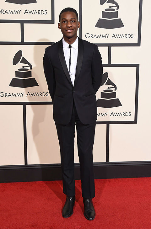 <div class='meta'><div class='origin-logo' data-origin='none'></div><span class='caption-text' data-credit='Jordan Strauss/Invision/AP'>Leon Bridges arrives at the 58th annual Grammy Awards at the Staples Center on Monday, Feb. 15, 2016, in Los Angeles.</span></div>