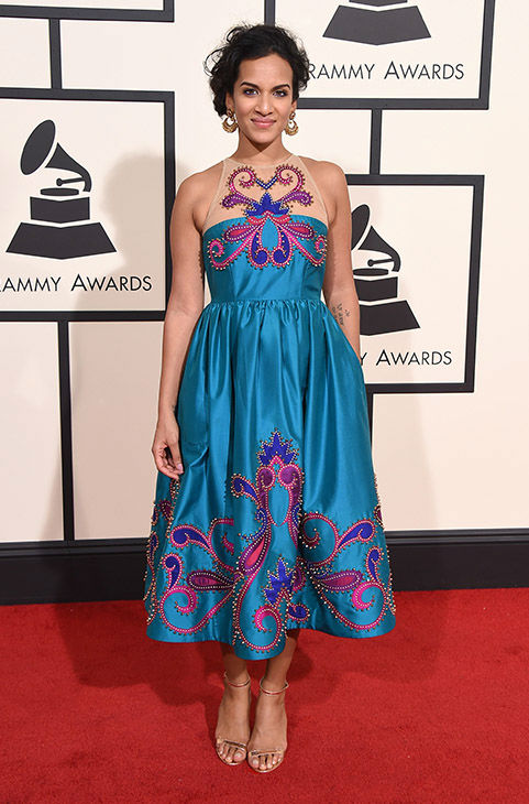 <div class='meta'><div class='origin-logo' data-origin='none'></div><span class='caption-text' data-credit='Jordan Strauss/Invision/AP'>Anoushka Shankar arrives at the 58th annual Grammy Awards at the Staples Center on Monday, Feb. 15, 2016, in Los Angeles.</span></div>
