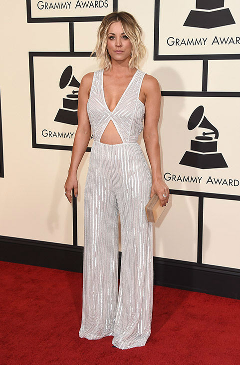 <div class='meta'><div class='origin-logo' data-origin='none'></div><span class='caption-text' data-credit='Jordan Strauss/Invision/AP'>Kaley Cuoco arrives at the 58th annual Grammy Awards at the Staples Center on Monday, Feb. 15, 2016, in Los Angeles.</span></div>