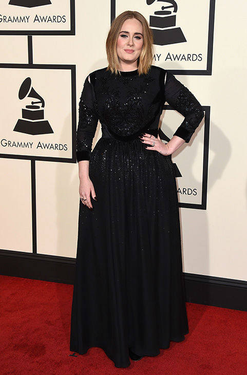 <div class='meta'><div class='origin-logo' data-origin='none'></div><span class='caption-text' data-credit='Jordan Strauss/Invision/AP'>Adele arrives at the 58th annual Grammy Awards at the Staples Center on Monday, Feb. 15, 2016, in Los Angeles.</span></div>