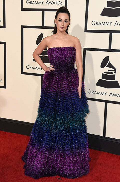 <div class='meta'><div class='origin-logo' data-origin='none'></div><span class='caption-text' data-credit='Jordan Strauss/Invision/AP'>Kacey Musgraves arrives at the 58th annual Grammy Awards at the Staples Center on Monday, Feb. 15, 2016, in Los Angeles.</span></div>