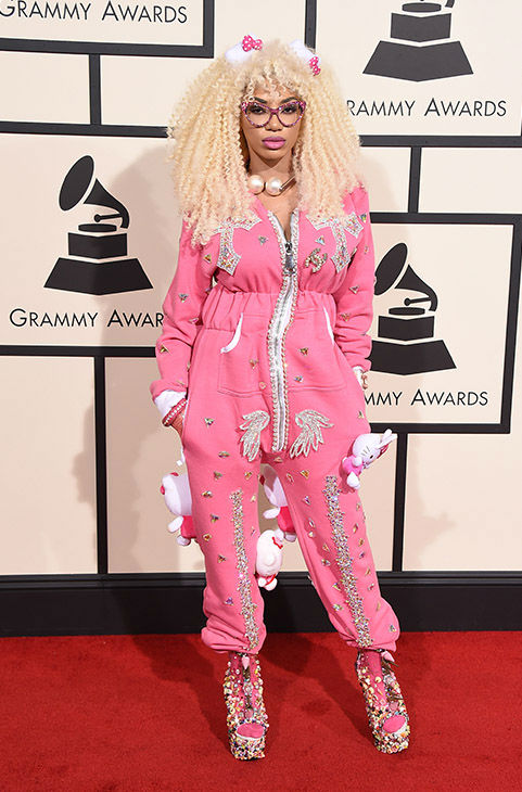 <div class='meta'><div class='origin-logo' data-origin='none'></div><span class='caption-text' data-credit='Jordan Strauss/Invision/AP'>Dencia arrives at the 58th annual Grammy Awards at the Staples Center on Monday, Feb. 15, 2016, in Los Angeles.</span></div>