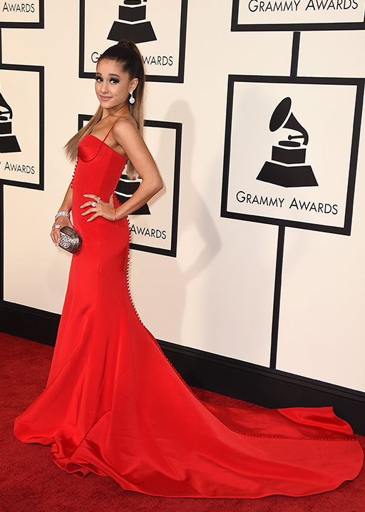 <div class='meta'><div class='origin-logo' data-origin='AP'></div><span class='caption-text' data-credit='Jordan Strauss/Invision/AP'>Ariana Grande arrives at the 58th annual Grammy Awards at the Staples Center on Monday, Feb. 15, 2016, in Los Angeles.</span></div>
