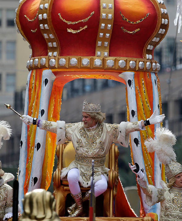 "<div class=""meta image-caption""><div class=""origin-logo origin-image ap""><span>AP</span></div><span class=""caption-text"">Rex, King of Carnival, Christian T. Brown, waves to the crowd during the Krewe of Rex parade on Mardi Gras in New Orleans, Tuesday, Feb. 17, 2015. </span></div>"