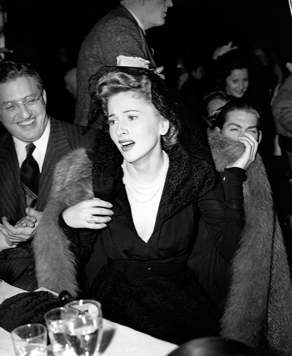 <div class='meta'><div class='origin-logo' data-origin='AP'></div><span class='caption-text' data-credit=''>Joan Fontaine reacts as she wins the best actress award at the 1941 annual Academy Awards presentations in Los Angeles, Ca., Feb. 27, 1942.</span></div>