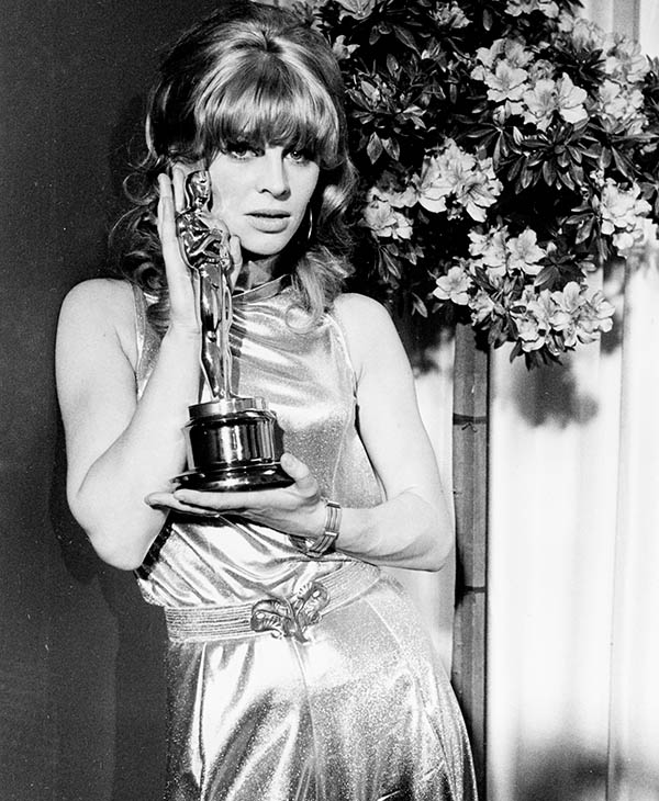 <div class='meta'><div class='origin-logo' data-origin='AP'></div><span class='caption-text' data-credit=''>British actress Julie Christie is posing with the Oscar she was won for her performance in the movie &#34;Darling,&#34; on April 18, 1966, in Santa Monica, Calif.</span></div>