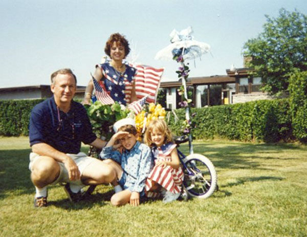 <div class='meta'><div class='origin-logo' data-origin='none'></div><span class='caption-text' data-credit='John Ramsey'>The Ramseys are pictured here in Charlevoix, Mich., dressed for the local Fourth of July parade in the early 1990's.</span></div>