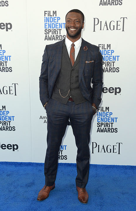 "<div class=""meta image-caption""><div class=""origin-logo origin-image none""><span>none</span></div><span class=""caption-text"">Aldis Hodge arrives at the Film Independent Spirit Awards on Saturday, Feb. 25, 2017, in Santa Monica, Calif. (Richard Shotwell/Invision/AP)</span></div>"