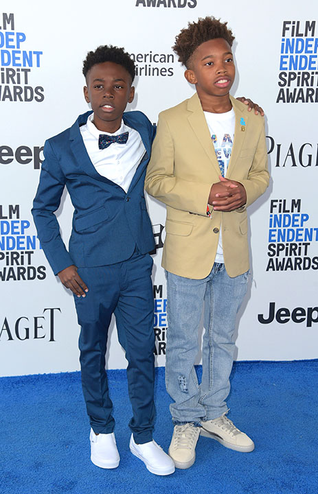 "<div class=""meta image-caption""><div class=""origin-logo origin-image none""><span>none</span></div><span class=""caption-text"">Alex R. Hibbert, left, and Jaden Piner arrive at the Film Independent Spirit Awards on Saturday, Feb. 25, 2017, in Santa Monica, Calif. (Richard Shotwell/Invision/AP)</span></div>"