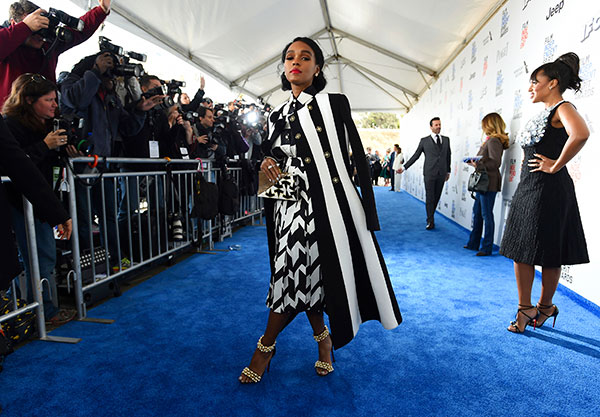"<div class=""meta image-caption""><div class=""origin-logo origin-image none""><span>none</span></div><span class=""caption-text"">Janelle Monae arrives at the Film Independent Spirit Awards on Saturday, Feb. 25, 2017, in Santa Monica, Calif. (Jordan Strauss/Invision/AP)</span></div>"