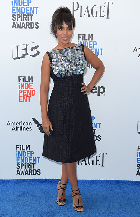 "<div class=""meta image-caption""><div class=""origin-logo origin-image none""><span>none</span></div><span class=""caption-text"">Kerry Washington arrives at the Film Independent Spirit Awards on Saturday, Feb. 25, 2017, in Santa Monica, Calif. (Richard Shotwell/Invision/AP)</span></div>"