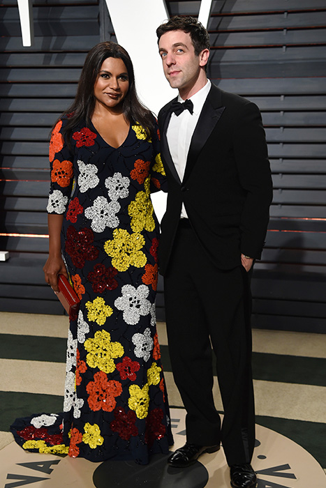 "<div class=""meta image-caption""><div class=""origin-logo origin-image ap""><span>AP</span></div><span class=""caption-text"">Mindy Kaling, left, and B.J. Novak arrive at the Vanity Fair Oscar Party on Sunday, Feb. 26, 2017, in Beverly Hills, Calif. (Evan Agostini/Invision/AP)</span></div>"