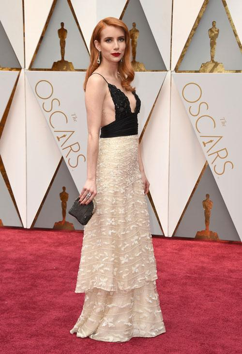 <div class='meta'><div class='origin-logo' data-origin='AP'></div><span class='caption-text' data-credit='Photo by Jordan Strauss/Invision/AP'>Emma Roberts arrives at the Oscars on Sunday, Feb. 26, 2017, at the Dolby Theatre in Los Angeles.</span></div>