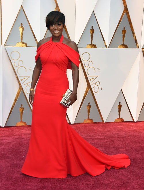 <div class='meta'><div class='origin-logo' data-origin='AP'></div><span class='caption-text' data-credit='Photo by Jordan Strauss/Invision/AP'>Viola Davis arrives at the Oscars on Sunday, Feb. 26, 2017, at the Dolby Theatre in Los Angeles.</span></div>
