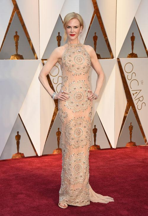 <div class='meta'><div class='origin-logo' data-origin='AP'></div><span class='caption-text' data-credit='Photo by Jordan Strauss/Invision/AP'>Nicole Kidman arrives at the Oscars on Sunday, Feb. 26, 2017, at the Dolby Theatre in Los Angeles.</span></div>