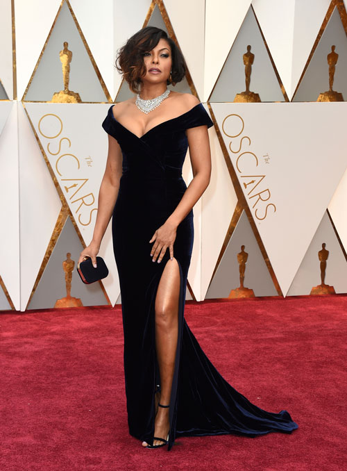 <div class='meta'><div class='origin-logo' data-origin='AP'></div><span class='caption-text' data-credit='Photo by Jordan Strauss/Invision/AP'>Taraji P. Henson arrives at the Oscars on Sunday, Feb. 26, 2017, at the Dolby Theatre in Los Angeles.</span></div>