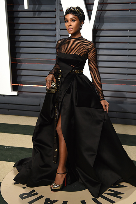 "<div class=""meta image-caption""><div class=""origin-logo origin-image ap""><span>AP</span></div><span class=""caption-text"">Janelle Monae arrives at the Vanity Fair Oscar Party on Monday, Feb. 27, 2017, in Beverly Hills, Calif. (Evan Agostini/Invision/AP)</span></div>"