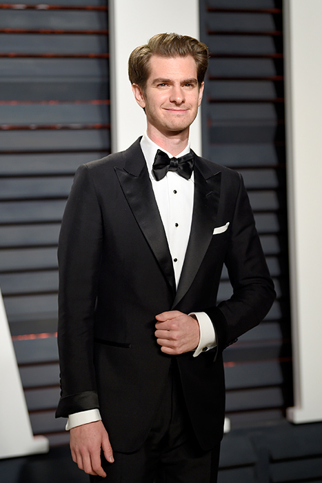"<div class=""meta image-caption""><div class=""origin-logo origin-image ap""><span>AP</span></div><span class=""caption-text"">Andrew Garfield arrives at the Vanity Fair Oscar Party on Monday, Feb. 27, 2017, in Beverly Hills, Calif. (Evan Agostini/Invision/AP)</span></div>"