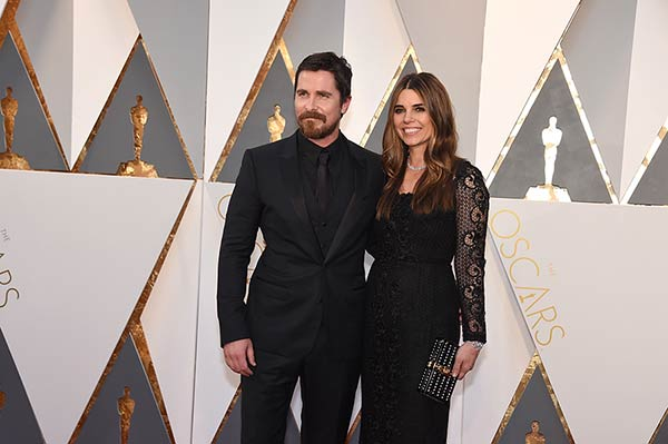 <div class='meta'><div class='origin-logo' data-origin='AP'></div><span class='caption-text' data-credit='Photo by Jordan Strauss/Invision/AP'>Christian Bale and his wife Sibi Blazic arrive at the Oscars on Sunday, Feb. 28, 2016, at the Dolby Theatre in Los Angeles.</span></div>