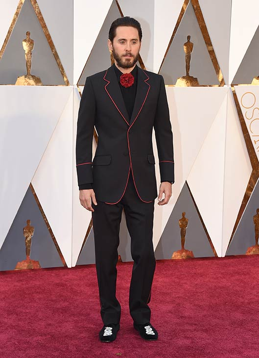 <div class='meta'><div class='origin-logo' data-origin='AP'></div><span class='caption-text' data-credit='Photo by Jordan Strauss/Invision/AP'>Jared Leto arrives at the Oscars on Sunday, Feb. 28, 2016, at the Dolby Theatre in Los Angeles.</span></div>