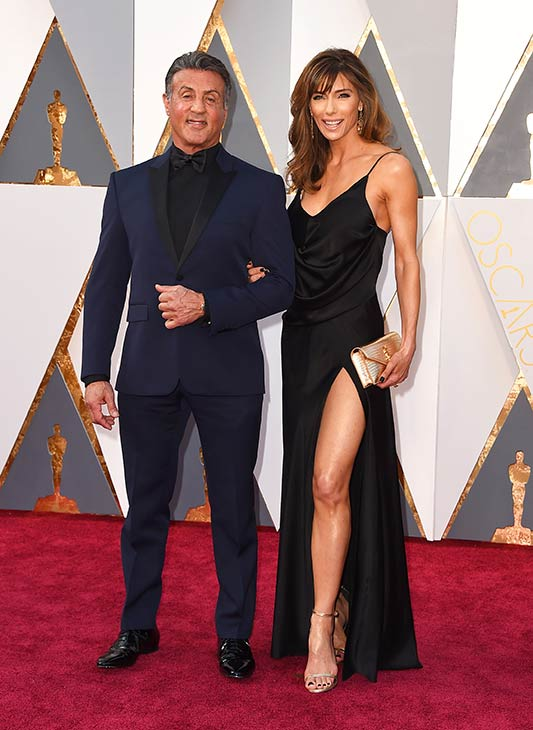 <div class='meta'><div class='origin-logo' data-origin='AP'></div><span class='caption-text' data-credit='Photo by Jordan Strauss/Invision/AP'>Sylvester Stallone and his wife, Jennifer Flavin, arrive at the Oscars on Sunday, Feb. 28, 2016, at the Dolby Theatre in Los Angeles.</span></div>