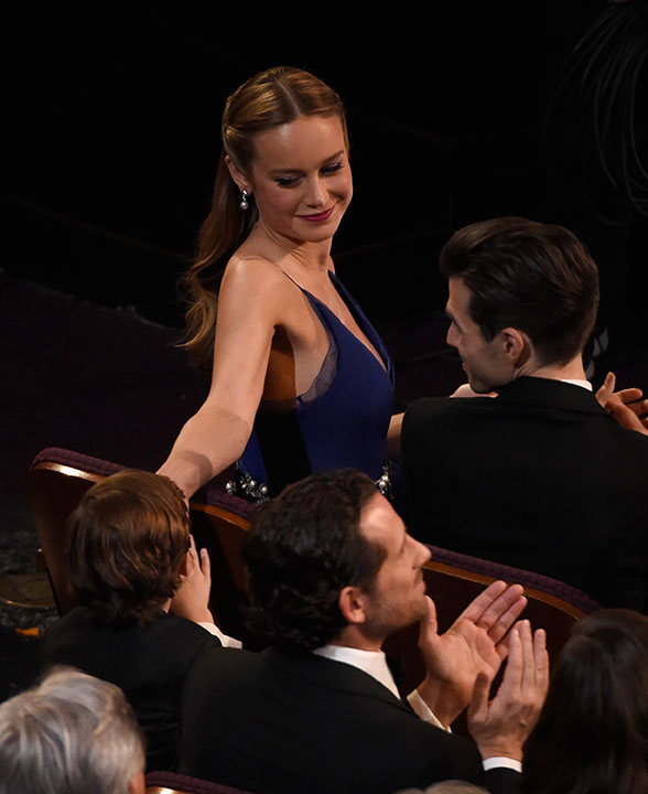 <div class='meta'><div class='origin-logo' data-origin='AP'></div><span class='caption-text' data-credit='Chris Pizzello/Invision/AP'>Jacob Tremblay, left, high-fives Brie Larson in the audience at the Oscars on Sunday, Feb. 28, 2016, at the Dolby Theatre in Los Angeles.</span></div>