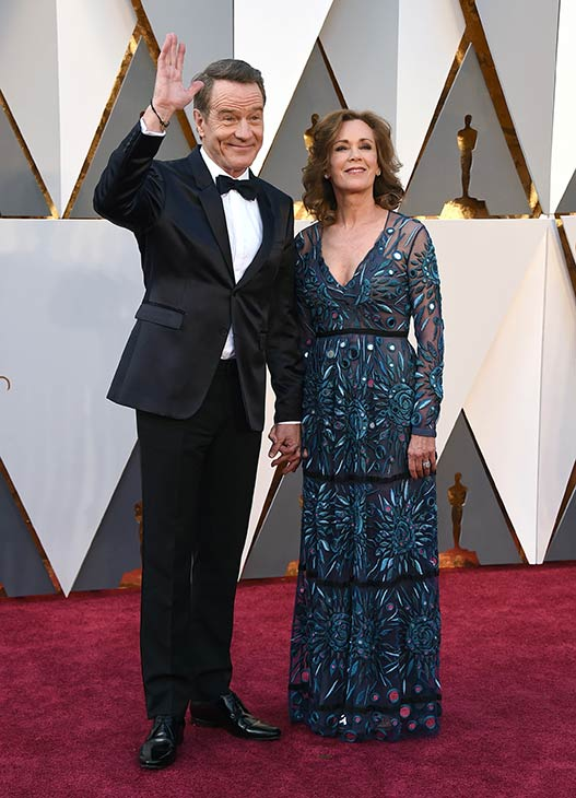 <div class='meta'><div class='origin-logo' data-origin='AP'></div><span class='caption-text' data-credit='Photo by Jordan Strauss/Invision/AP'>Bryan Cranston and his wife, Robin Dearden, arrive at the Oscars on Sunday, Feb. 28, 2016, at the Dolby Theatre in Los Angeles.</span></div>