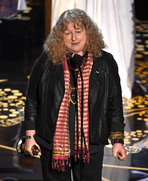 <div class='meta'><div class='origin-logo' data-origin='AP'></div><span class='caption-text' data-credit='Chris Pizzello/Invision/AP'>Jenny Beavan accepts the award for best costume design for 'Mad Max: Fury Road' at the Oscars on Sunday, Feb. 28, 2016, at the Dolby Theatre in Los Angeles.</span></div>