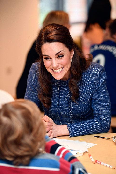 <div class='meta'><div class='origin-logo' data-origin='none'></div><span class='caption-text' data-credit='Jeremy Selwyn/Pool Photo via AP'>Kate, the Duchess of Cambridge smiles while talking to a child during a visit to the Ronald McDonald House Evelina in London, Tuesday, Feb. 28, 2017.</span></div>