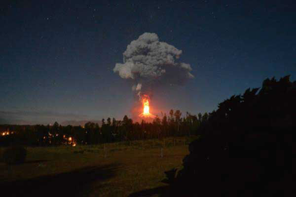 <div class='meta'><div class='origin-logo' data-origin='none'></div><span class='caption-text' data-credit='Nicolas Gallo R./Twitter'>Residents captured photo and video as they evacuated when Villarrica, a volcano 400 miles outside of Santiago, Chile, erupted overnight Monday.</span></div>